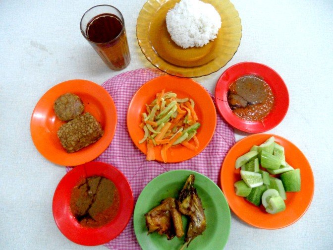 Ayam Goreng Bu Haji - Assortments of dishes