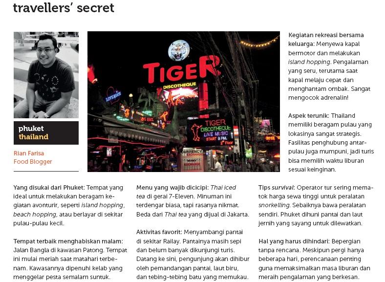 Traveller's Secret Hearsay on Jalan Jalan Magazine (December 2012 Issue) (2/2)