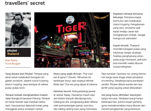 Featured in Jalan Jalan Magazine 2012