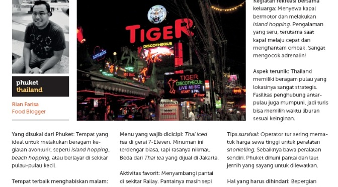 Traveller's Secret Hearsay on Jalan Jalan Magazine (December 2012 Issue)