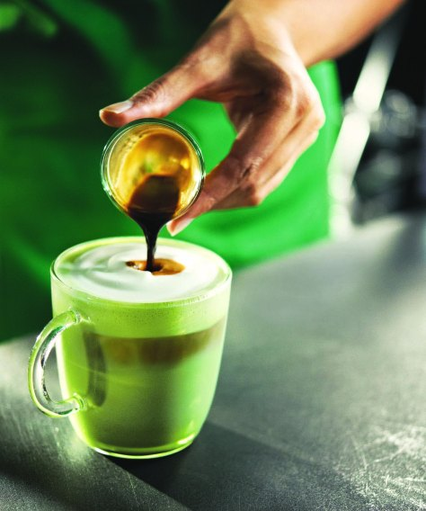 Green Tea Latte with Espresso