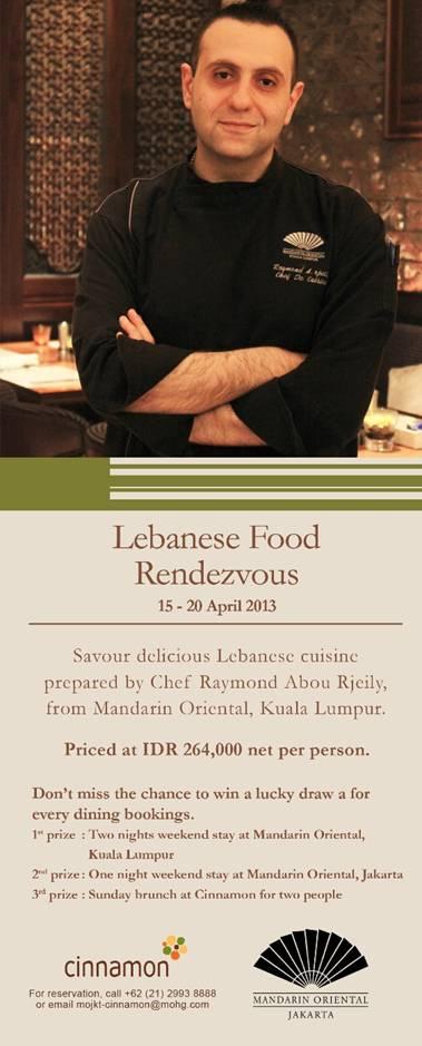 Mandarin Oriental Jakarta - Lebanese Food Rendezvous