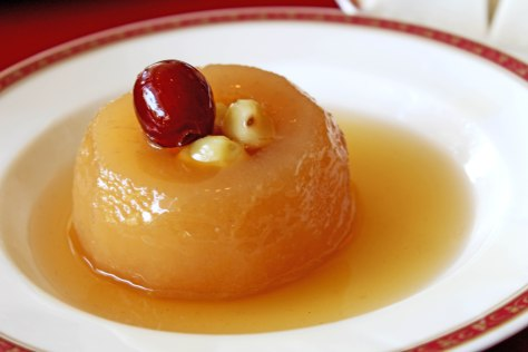 Kong's Family Cuisine - Gingko Poetry Rites - Steamed snow pear with dates 1