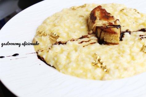 Foie Gras Risotto with Parmigiano Reggiano