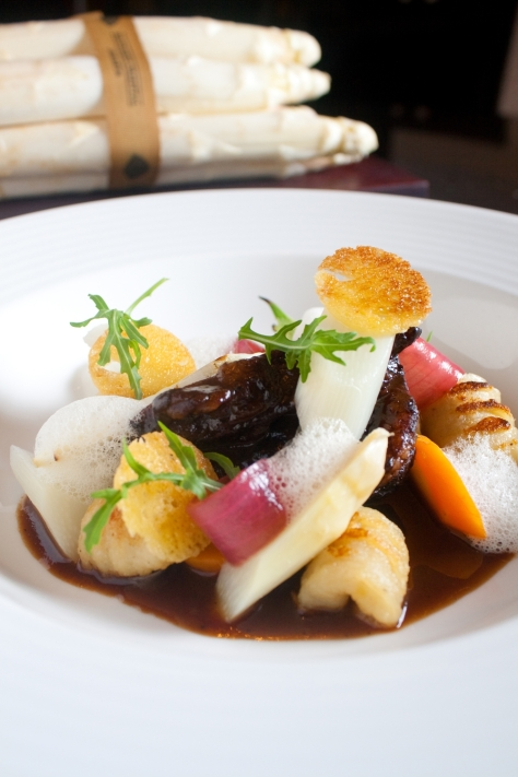 Lyon - Spoon Braised Australian Wagyu Beef Cheek with Potato Gnocchi and White Asparagus Blanquette