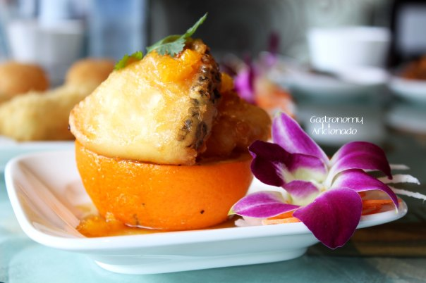 Tien Chao - Seared cod with orange and pomelo dressing