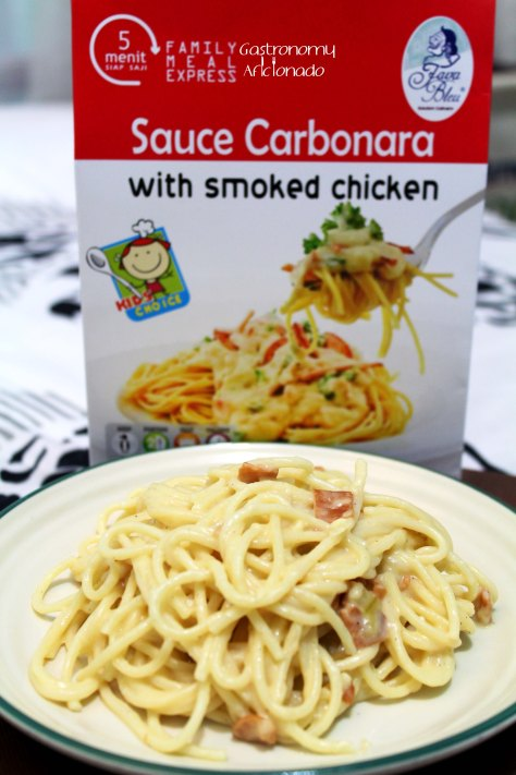 Carbonara with Smoked Chicken