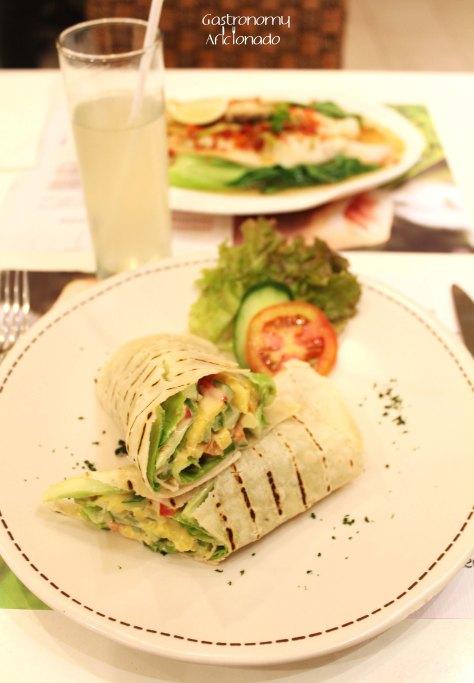 Caesar's Vegetarian Wrap
