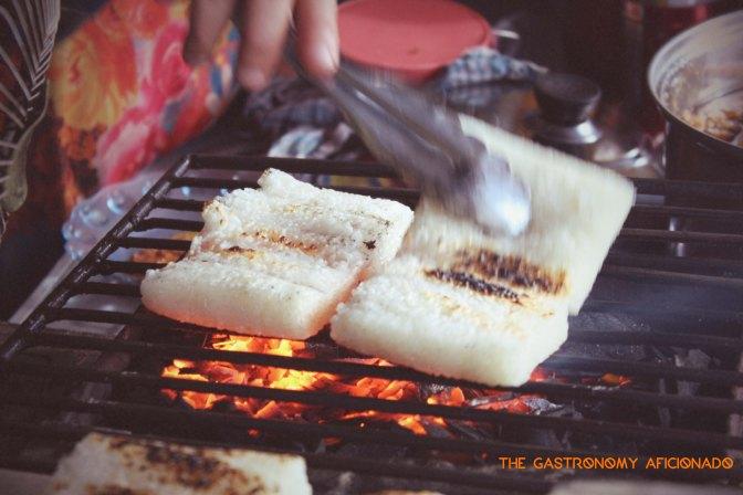 Ketan Bakar Lembang - Grilling Process