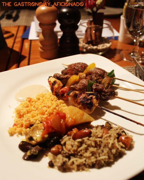 Arabic rice, couscous, and skewers