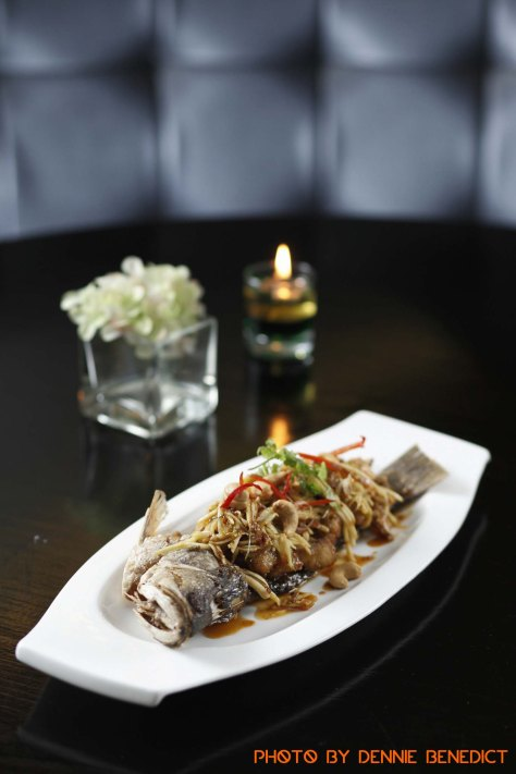 Deep fried sea bass with tamarind sauce