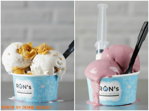 Liquid Nitrogen Ice Creams from Ron's Laboratory