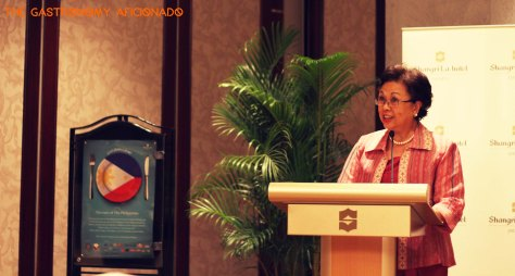 Her Excellency Maria Rosario C. Aguinaldo, the Ambassador of The Philippines to Indonesia