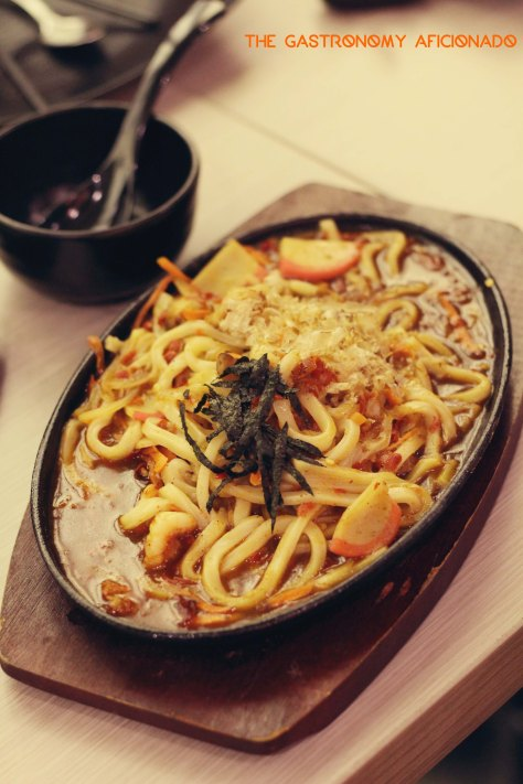 Spicy Seafood Udon Hotplate