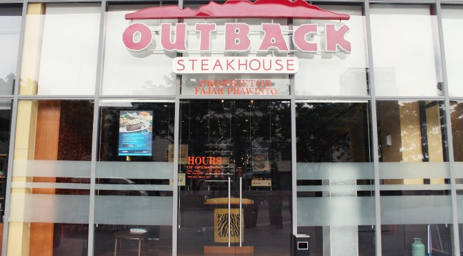 Welcoming Outback Steakhouse's 4th outlet in Indonesia