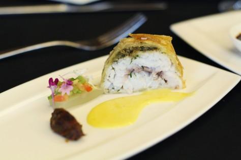 Indonesian barramundi woku en croute and woku sauce by Sandra Djohan