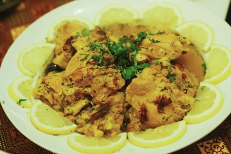 Chicken tajine with olive and lemon